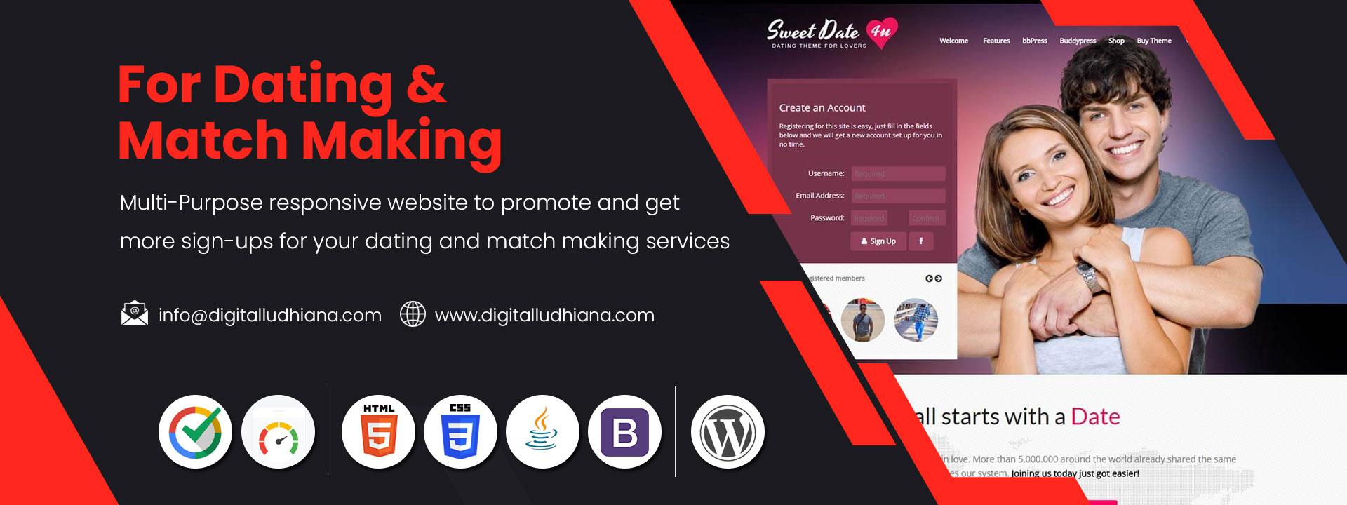 dating match making website designing company in ludhiana punjab india