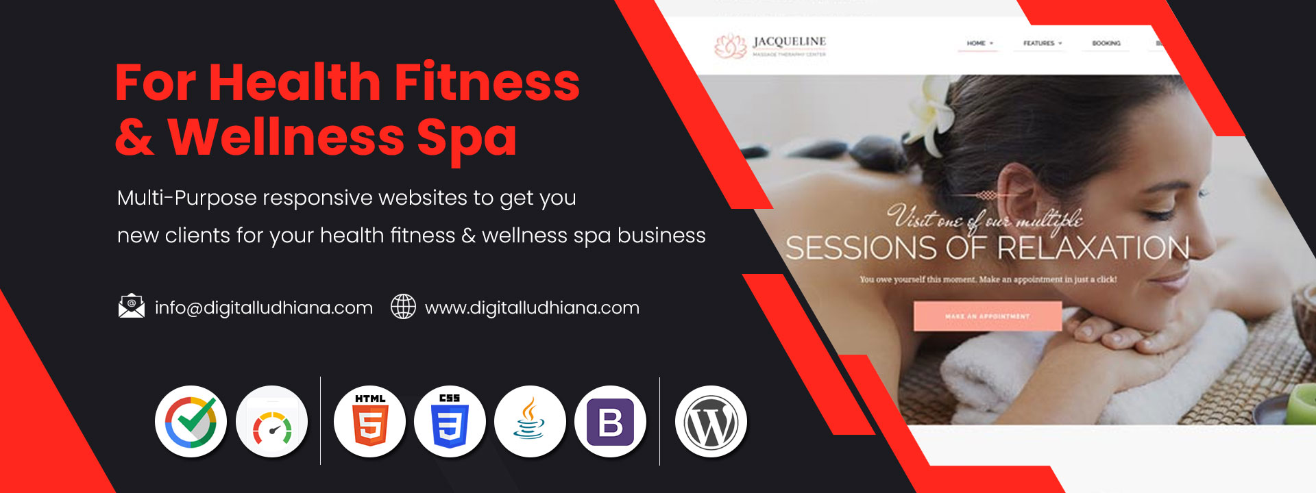 health fitness and wellness spa website designers in ludhiana