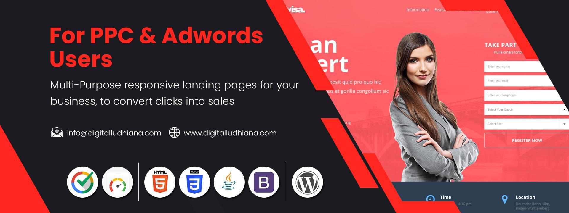 landing page designers in ludhiana punjabi india