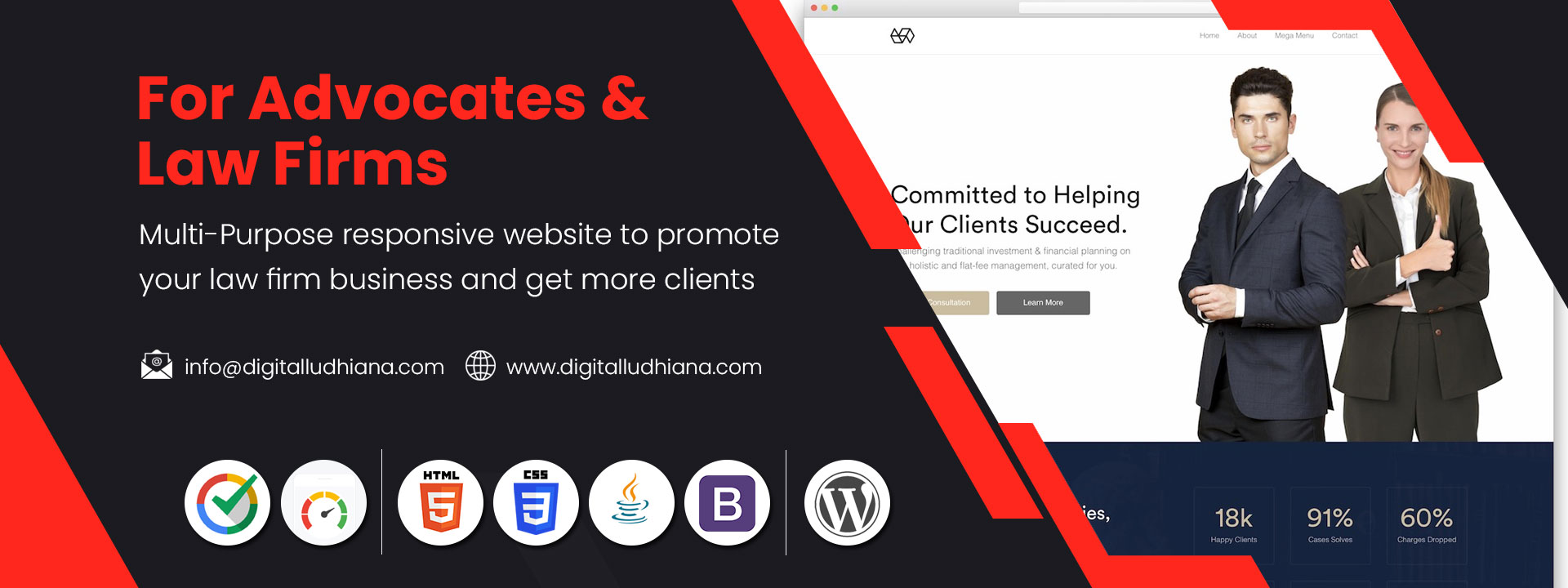 lawyer advocates law firms business website designing company in ludhiana punjab india