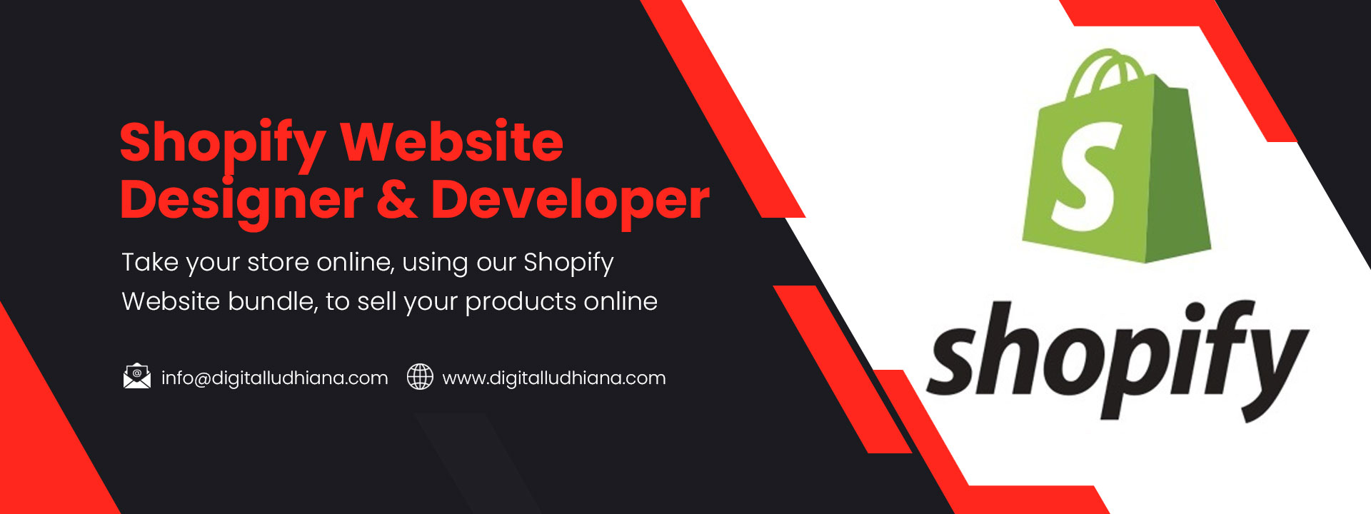 shopify website designing development outsourcing services in ludhiana punjab india